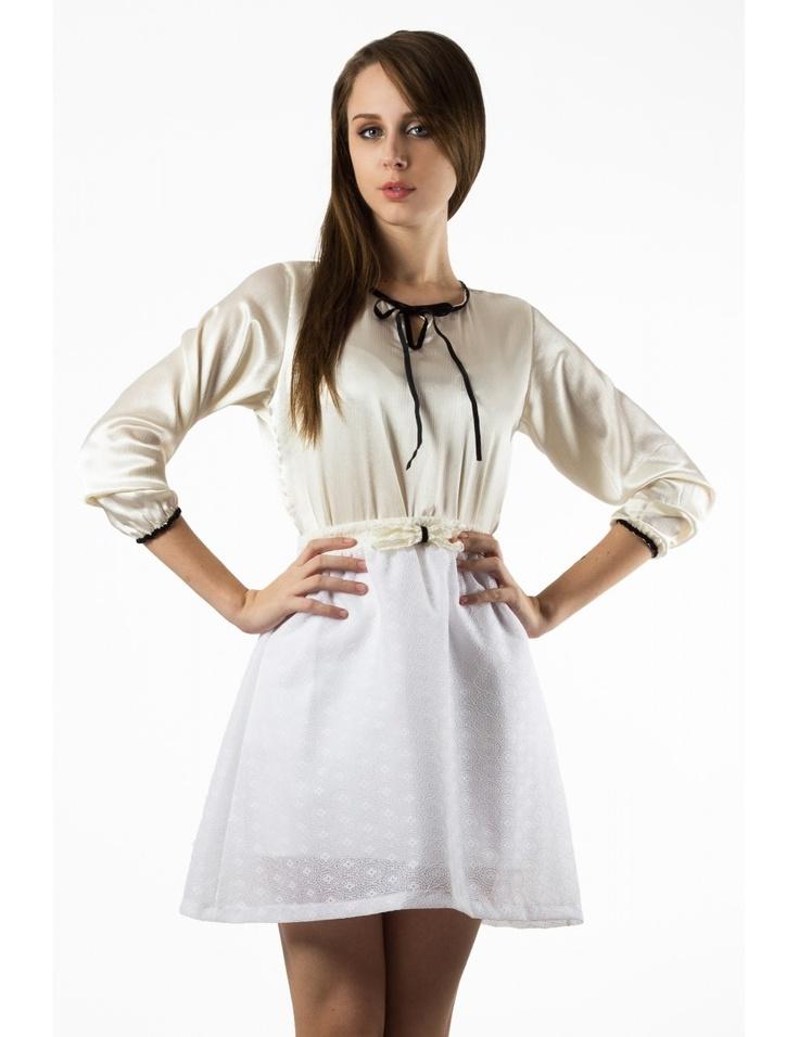 Zega Store - Fusta Zega Limited Edition, culoare alb - Femei, Fuste