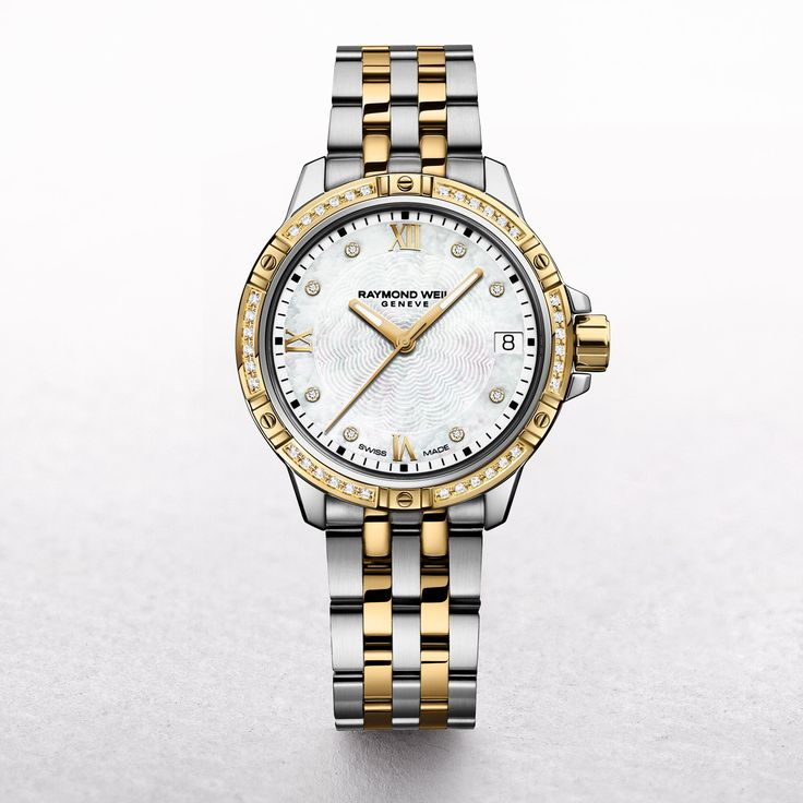 Ladies Raymond Weil Tango Tow Toned Rose Gold Plated Stainless Steel with Mother of Pearl