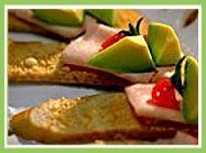 Avocado and Turkey Crostini