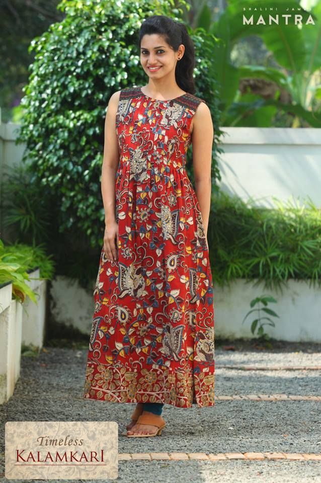 Our 'Timeless Kalamkari' collection of long kurtis in elegant styles is now available at the store! Shop at http://bit.ly/1QBEoWg