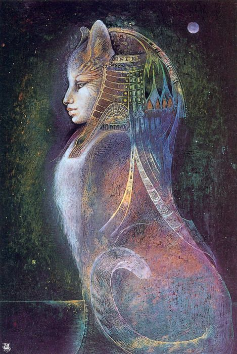 ✯ Goddess Bast .. By Susan Seddon Boulet✯ Susan Seddon Boulet (1941-1997) @ www.turningpointgallery.com More Susan Boulet @ http://groups.google.com/group/FantasyMagie & http://groups.yahoo.com/group/fantasy_forum & http://groups.yahoo.com/group/A1-Fantasy-Art https://www.facebook.com/pages/Susan-Seddon-boulet/47280994189