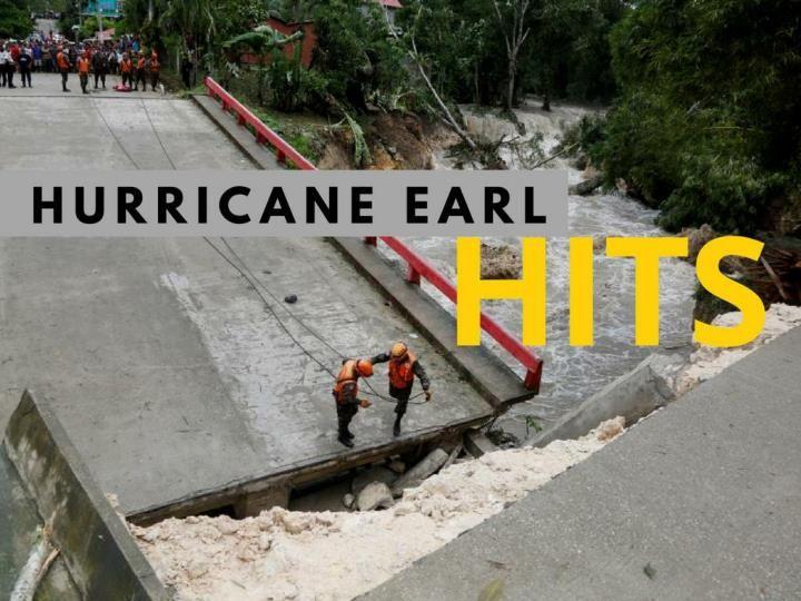Following the path of Hurricane Earl.