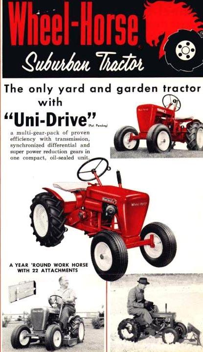 wheelhorse suburban u0027yard and gardenu0027 tractor ad