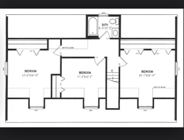 Cape cod 2nd floor plan house addition pinterest 2nd for Cape cod second floor addition