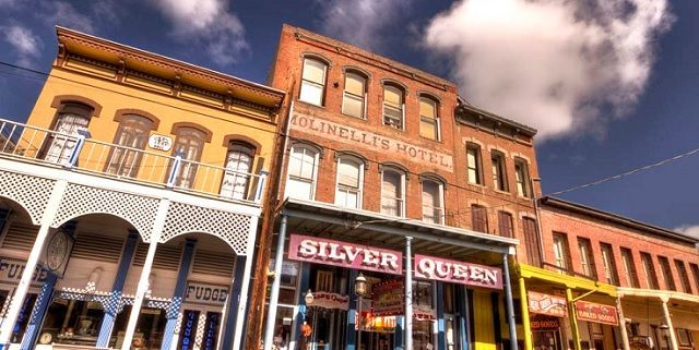 Silver Queen Hotel Virginia City Nevada Like Many Haunted Hotels The Is Allegedly By A Tragic Woman Who D On Proper
