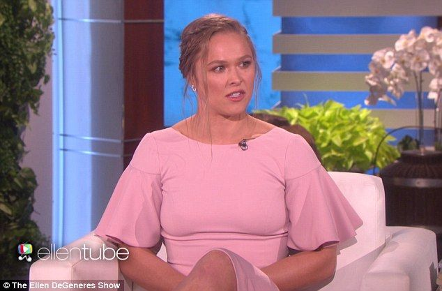 Ready for retirement: Ronda Rousey revealed on Tuesday's episode of The Ellen DeGeneres Show that her upcoming UFC fight against Amanda Nunes will be one of her last