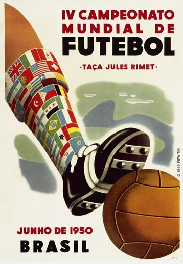 Brasil, 1950 World Cup Poster - Uruguay took the cup