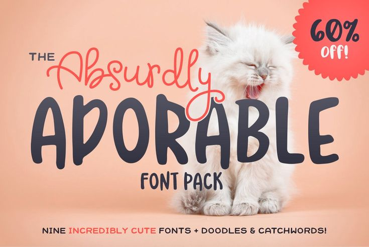 The Absurdly Adorable Font Pack - Display
