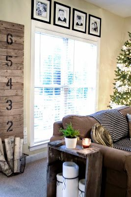 Down to Earth Style: Rustic Growth Chart - easy to make