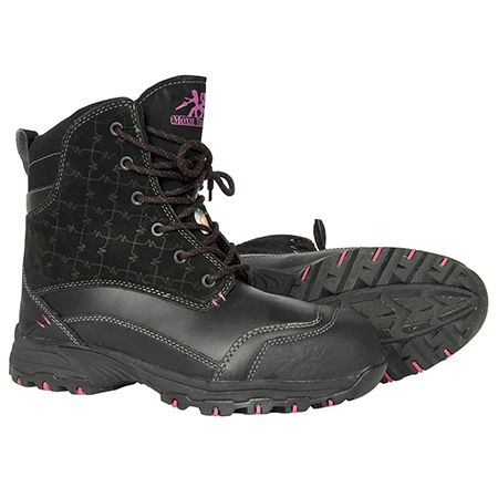 Lotus 7″ Winter Work Boot For Women Reg, $179.99 On Sale For $100.00 Metal Free 400g Thinsulate Ultra Waterproof Leather and suede upper Composite toe Composite plate TPU shank Plastic eyelets PK abrasion resistant lining Compression molded EVA midsole Removable cushioned EVA insole ANTI-SLIP and oil resistant rubber outsole CSA approved, Grade 1 Electric Shock Resistant Meets or exceeds ASTM 2413-05 requirements