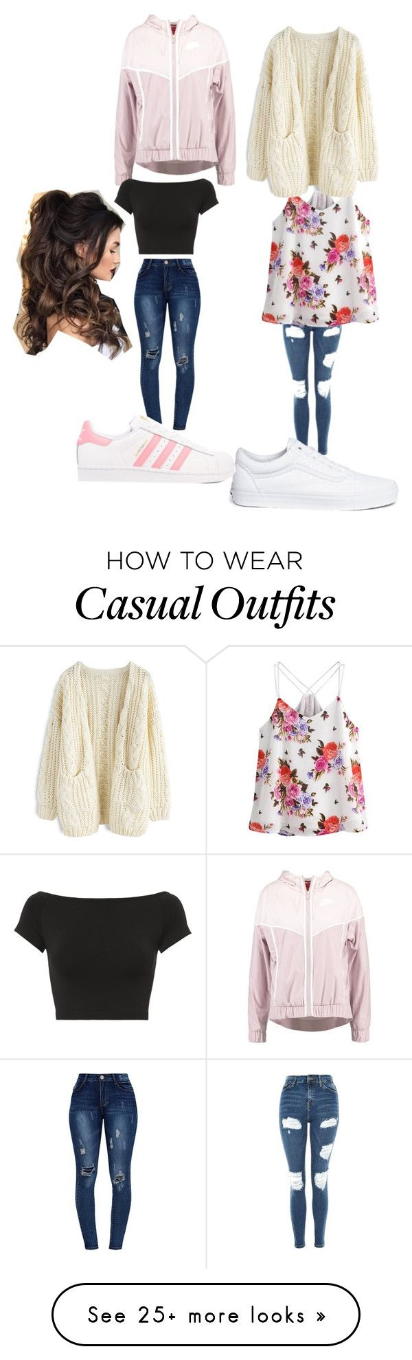 """""""Untitled #9762"""" by lover5sos on Polyvore featuring Topshop, Vans, NIKE, Helmut Lang and adidas Originals"""