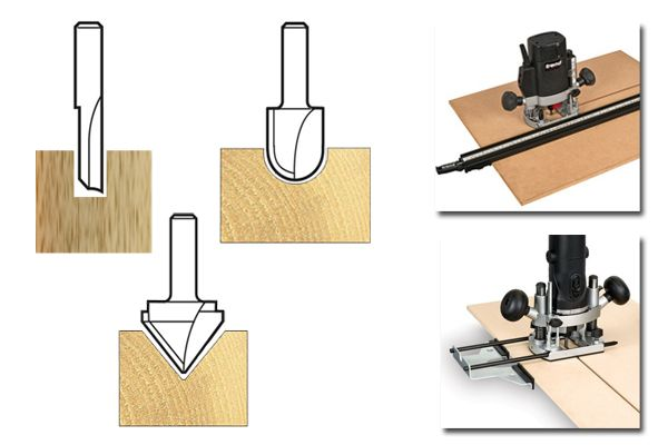 Different router bits have different profiles for getting the exact shape you want