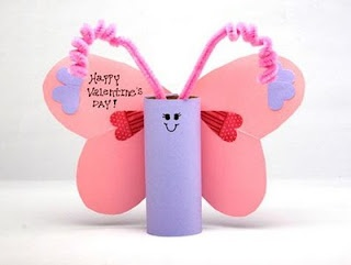 Valentine's Day Butterfly Tube Craft