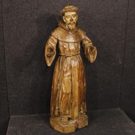 1700€ Antique French religious sculpture Saint Francis from 18th century. Visit our website www.parino.it #antiques #antiquariato #art #antiquities #antiquario #sculpture #statue #decorative #interiordesign #homedecoration #antiqueshop #antiquestore #wood #statue #religious #saintfrancis