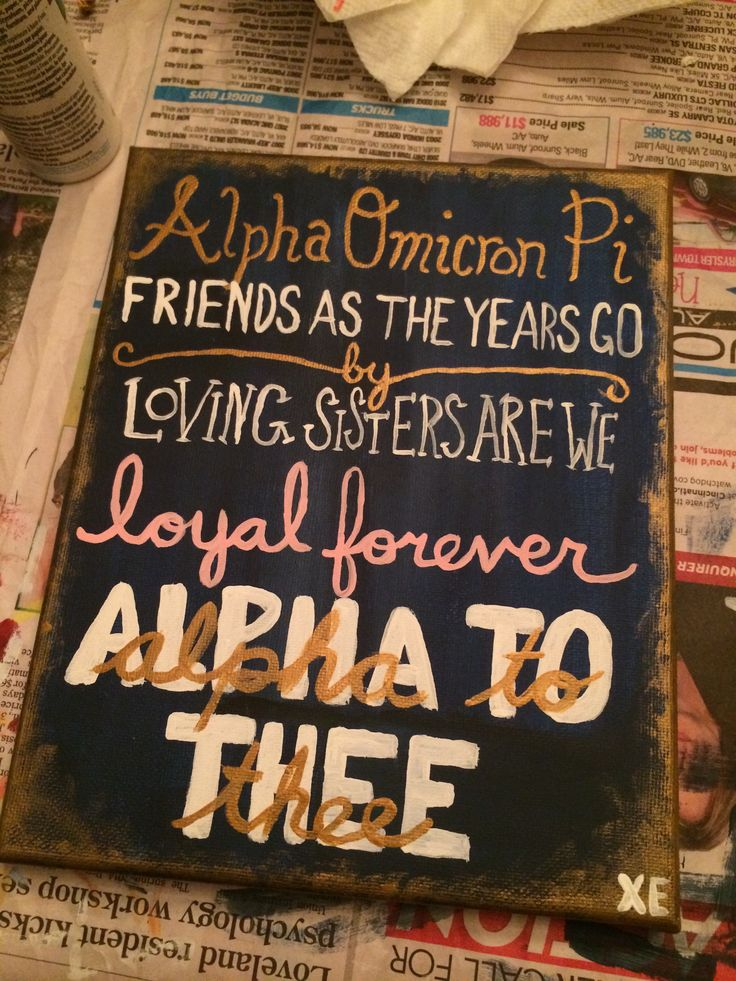 #AOII #Sorority #Craft #Greek #Gift #DIY