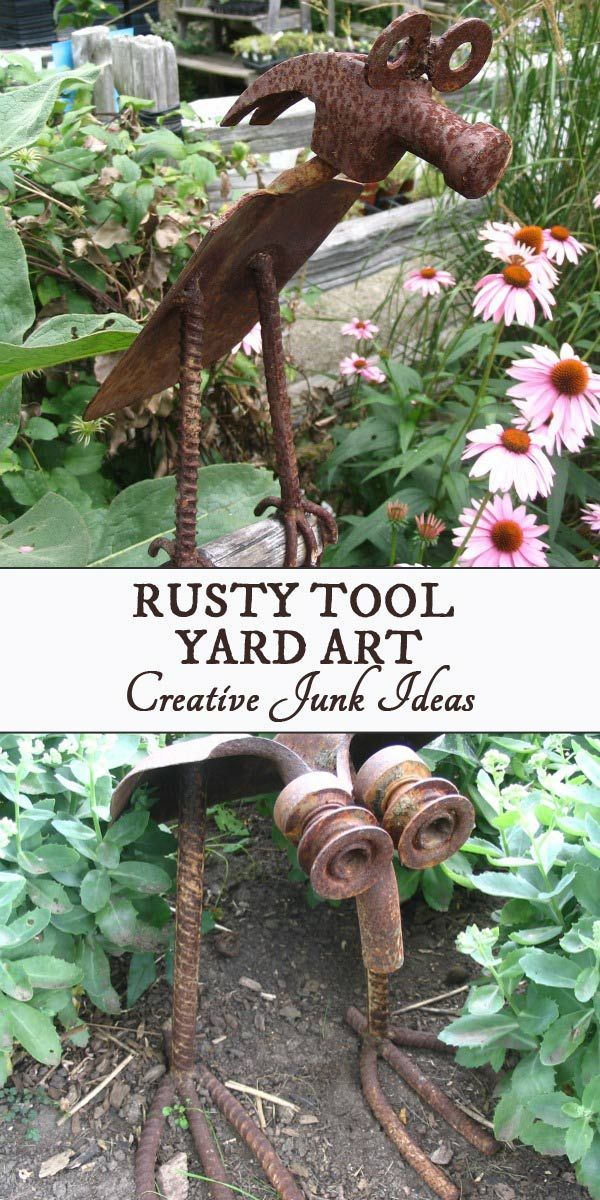 Turn Old Tools Into Garden Art 20 Ideas With Images Old