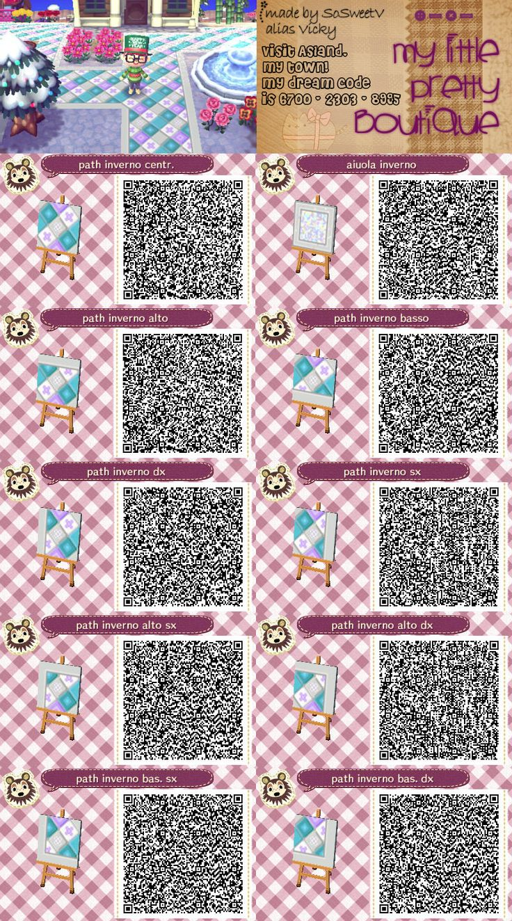 Winter path animal crossing new leaf qr code animal for Acnl boden qr