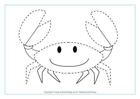 crab tracing page pre k and kindergarten printables flashcards etc pinterest crabs. Black Bedroom Furniture Sets. Home Design Ideas