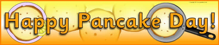 Happy Pancake Day display banner