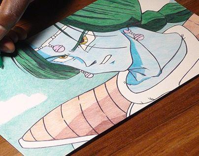 "Check out new work on my @Behance portfolio: ""Zarbon DBZ Ballpoint Pen Drawing"" http://on.be.net/1N29Ye5"
