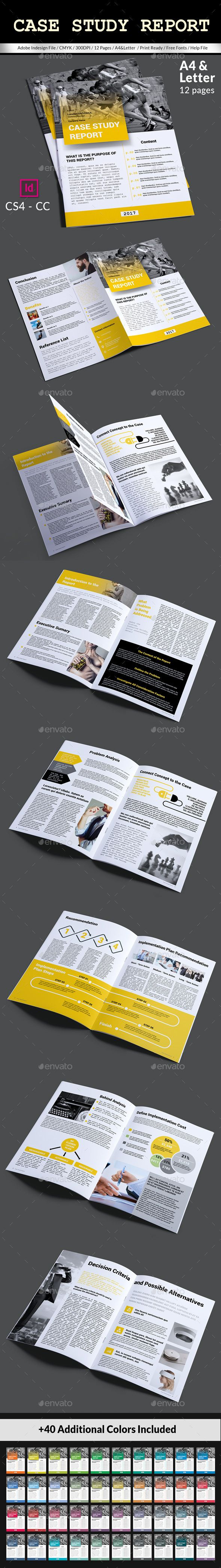 Case Study Report Template by magic_reflection Modern & Creative Case Study template design.Specifications: Indesign INDD (CC&CS4), IDML & PDF File 40 1 color set A4 & Letter Si