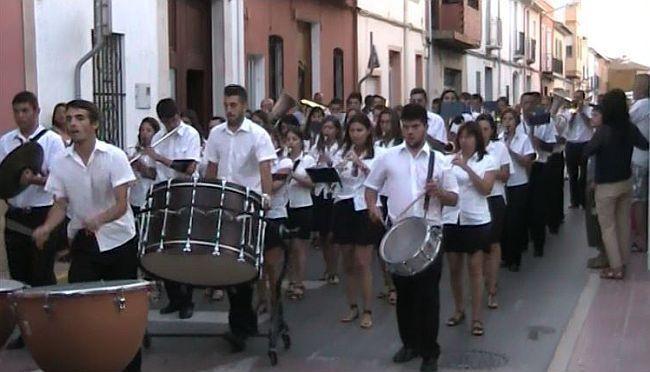 Band playing at Moros Y Cristianos Benitachell / El Poble Nou de Benitatxell