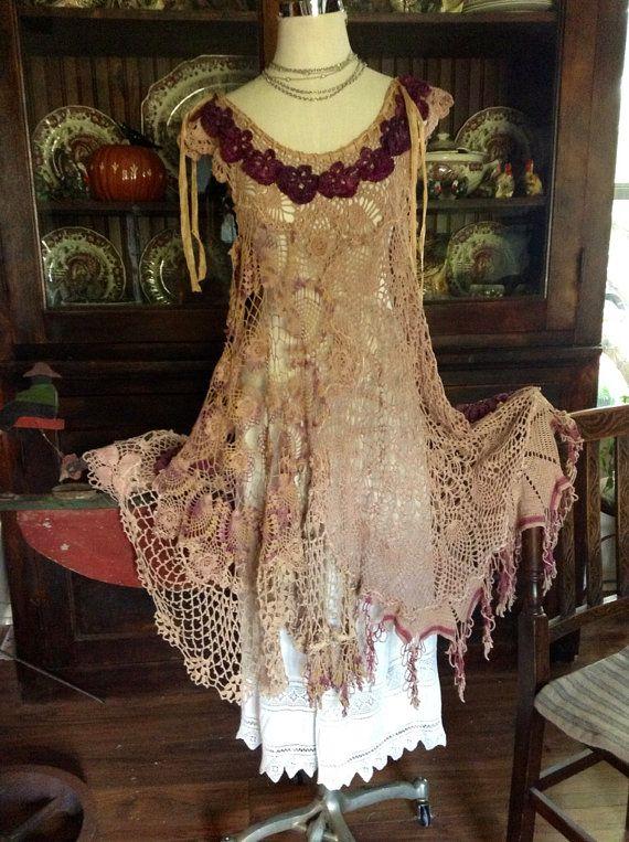 Luv Lucy crochet dress Lucy's Forest Fairy by LuvLucyArtToWear