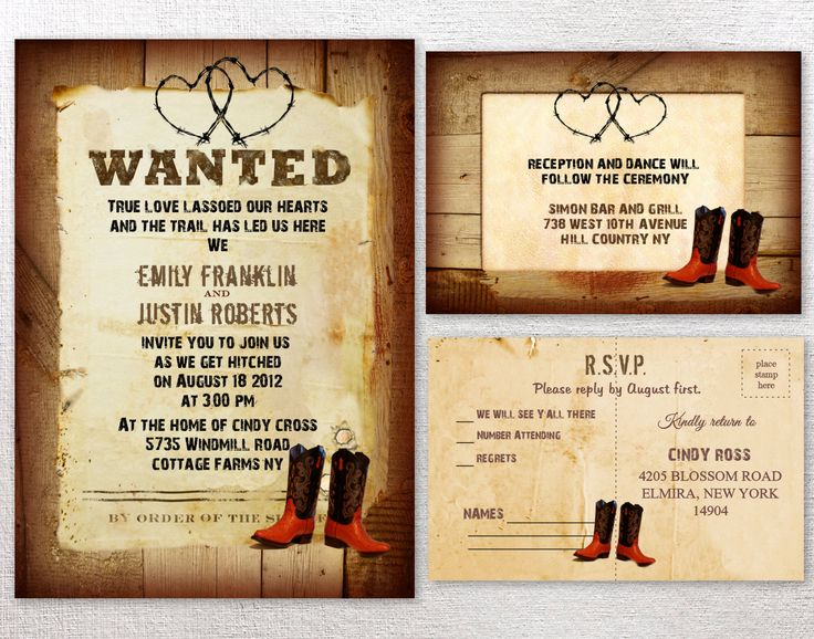 Boots Wedding Invitations: Best 25+ Western Invitations Ideas On Pinterest
