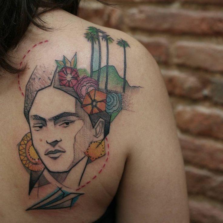 Viaja, conoce,  vive... Disfruta   Eskerrik asko 😉  #humanflytattoo #tattoobywonka #tattrx #equilattera #fridakahlo #palma #mexico #madrid  #inkstinctsubmission #ink #inked #thebestattooartist #tattoos