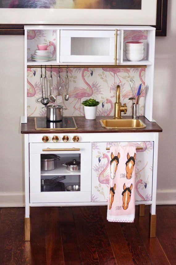 DUKTIG Ikea Decal, Flamingo Sticker Set, PACK OF 4, Peel And Stick,