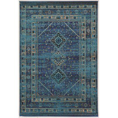 "World Menagerie Kaul Goravan Blue Area Rug Rug Size: 8' x 10'6"""