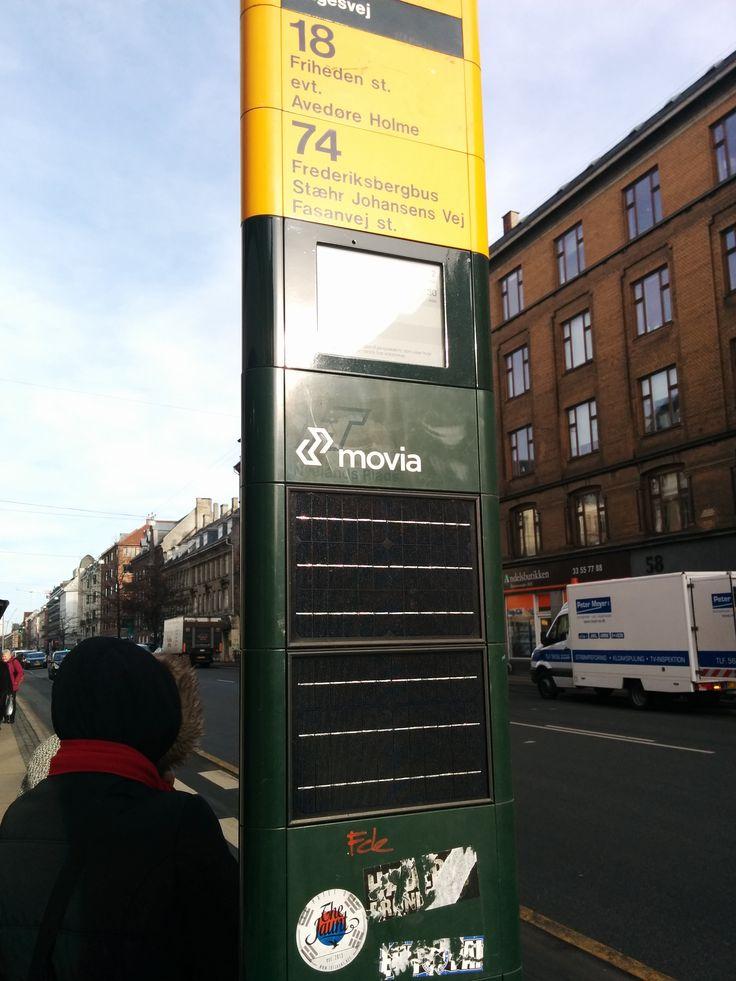 Copenhagen ePaper on busstops by colleague david #ePaperdisplay #epapersignage #einksignage #mpicosys #busstop #epaper #eink