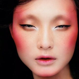 Love the idea of using an alternative colour for 'blush'... or even just exaggerating the blush with nothing else on the face.