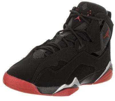 Nike Jordan Kids Jordan True Flight BG Black/Gym Red Metallic Silver Basketball Shoe 4.5 Kids US