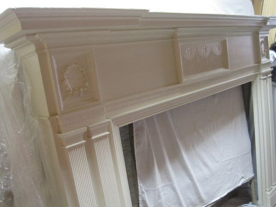 Beautiful Antique Fireplace Mantel Shabby Chic by PearlGlasses