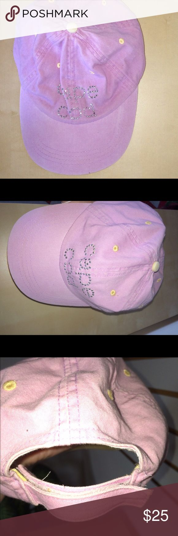 """💚$5 w BUNDLE💚💚. EUC CAPE COD LAVENDER HAT Pastel purple hat baseball cap/ spells out """"CAPE COD"""" in  sparkly silver letters. Only worn 3 x's. Purchased at the Kennedy Estate on Cape Cod when Ted Kennedy was endorsing Duval Patrick for governor of Massachusetts Accessories Hats"""