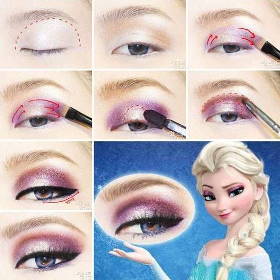 DIY Disney's Frozen Elsa Eyeshadow - https://youniqueproducts.com/LashesbyCarrieShinn