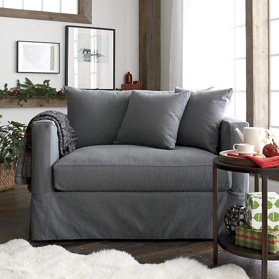 Willow Twin Sleeper Sofa with Air Mattress in Sleeper Sofas | Crate and Barrel