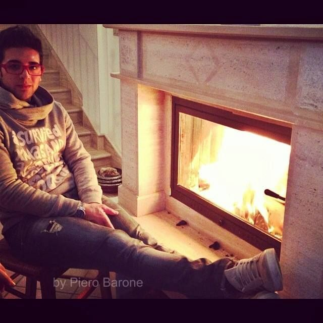 Piero's fireplace at his house