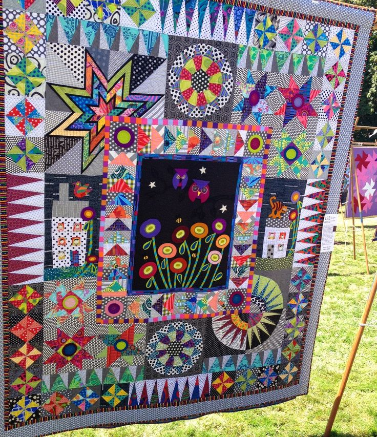 I just love the variety in this quilt! It is one of the most interesting and fun quilts I have seen in a long while!
