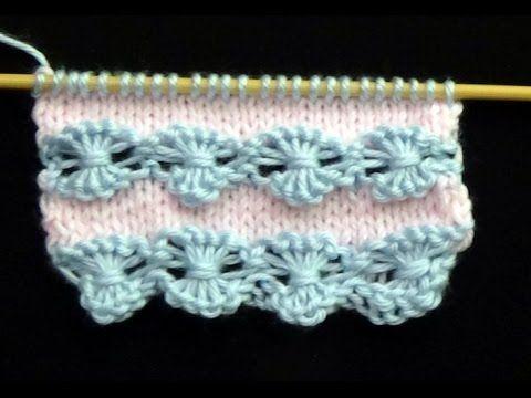 Cómo Tejer Puntada Ropa Bebé #2 Knit Baby Stitch  2 Agujas (264)