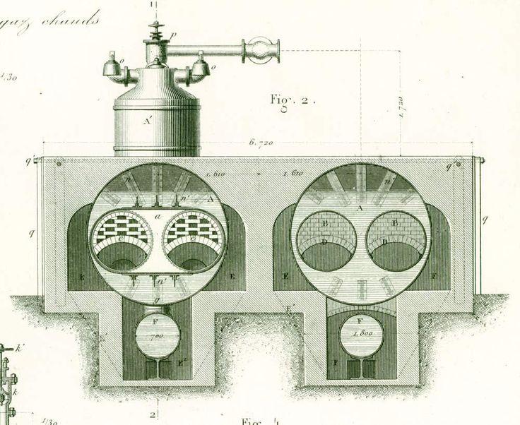 1872 Construction Navale. Plan Moteur à Helice Frégate la Gauloise. Cuirassé Militaire. Machine à vapeur. Armengaud. Paris. de la boutique sofrenchvintage sur Etsy