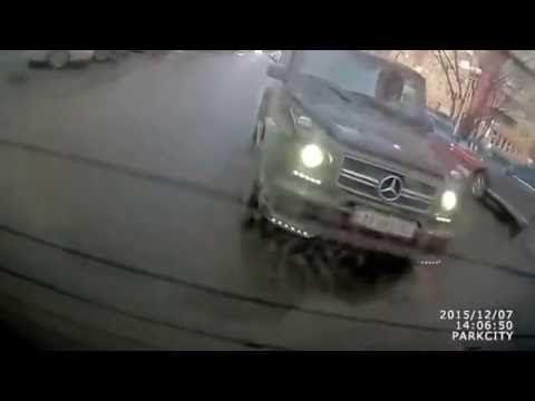 Mercedes Benz Гелендваген разборки джентельменов