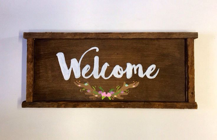 A personal favorite from my Etsy shop https://www.etsy.com/ca/listing/270903628/welcome-sign
