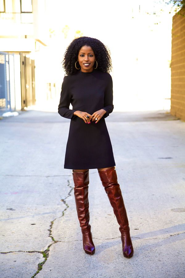 Little Black Dress + Over The Knee Boots - Style Pantry - Your fashion, culture and lifestyle stockist