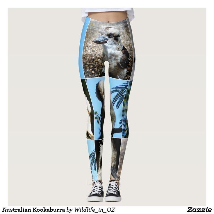 Kookaburra Leggings. Aussie Wildlife Leggings. Click on photo to view item then click on item to see how to purchase that item. #leggings #activewear #rosella #easternrosella #koala #koalabear #wildlife #australianwildlife #zazzle #lorikeet #rainbowlorikeet #indianringneck #cockatoo #sulphurcrestedcockatoo #kingparrot #kookaburra