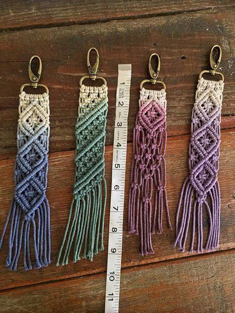 Macrame keychains/bag accessory Roadies #craft