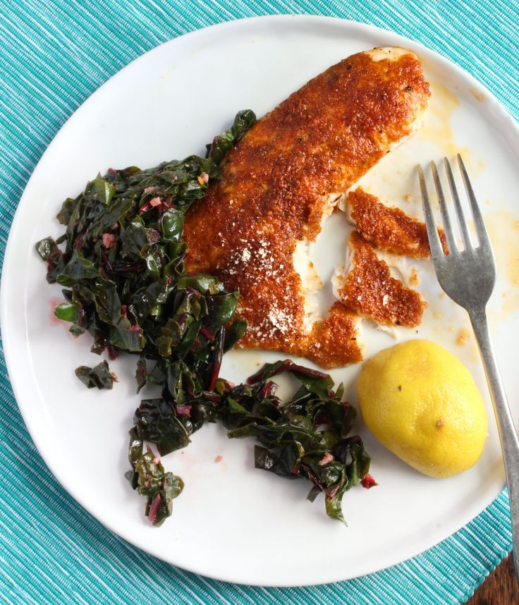 Recipe: Crispy Paprika-Parmesan Fish Fillets with Sautéed Chard — Recipes from The Kitchn