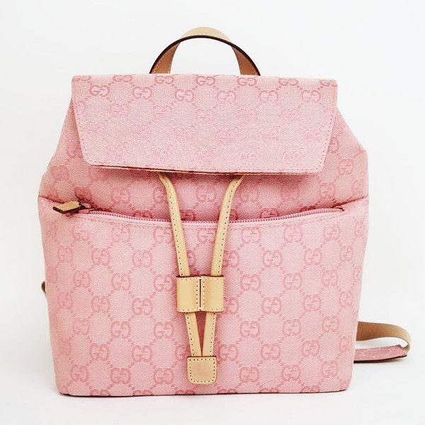 【中古】GUCCI(グッチ) 003 0242 GGキャンバス リュック カーフ レザー ピンク/キャンバスにGG柄がデザインされたグッチのリュック。両手がふさがらないので、お買い物や旅行のサブバッグとしても便利です。/新品同様・極美品・美品の中古ブランドバッグを格安で提供いたします。/¥42,800