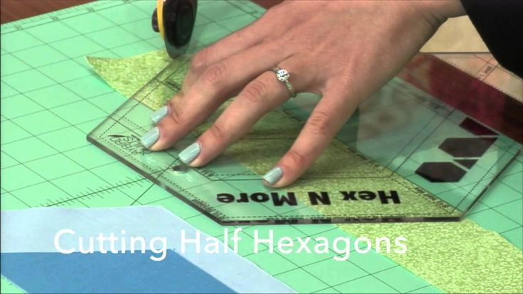 In this video tutorial, Julie Herman of Jaybird Quilts demonstrates how to cut shapes from fabric strips with the Hex N More ruler. Learn how to cut Hexagons, Half Hexagons, Triangles and Jewels. You can cut each shape in four different sizes using the Hex N More ruler. Julie reviews how to cut shapes for right and left-handed sewists and quilters.